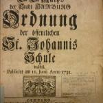 Schulordnung 1732