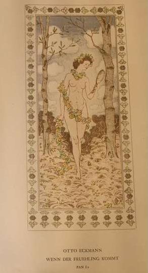 Otto Eckmann: Wenn der Frühling kommt; Lithografie, in: Pan (1895) Heft II, S. 119
