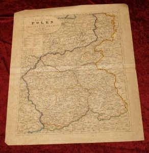 Karte Polen 1831