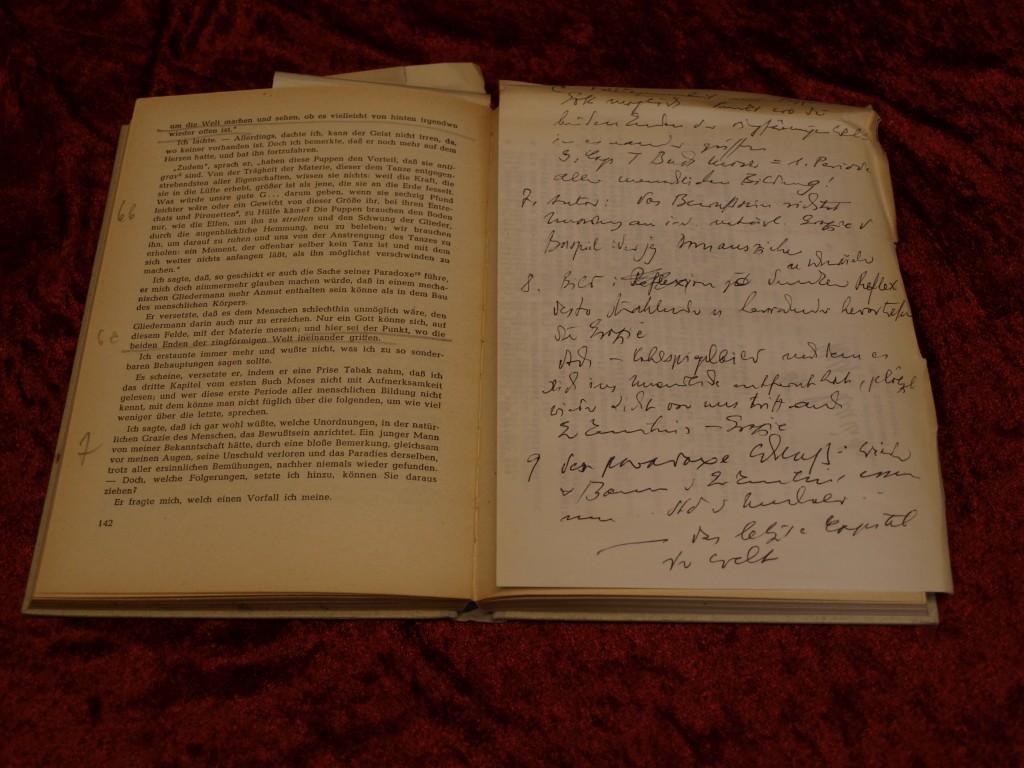 Buch mit handgeschriebenen Notizen: Westermanns Lesebuch für Höhere Schulen: Das Weltbild - Ein Buch Prosa (Ohne Signatur9