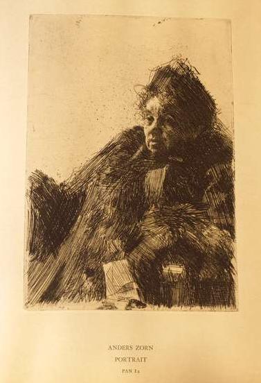 Anders Zorn: Portrait; Radierung; in: Pan (1895), Heft II, S. 71