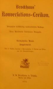 Brockhaus' KonversationsLexikon in 24 Bänden  (Ausgabe von 1094, 17. Band)
