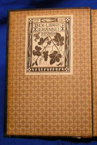 Exlibris des Johanneums von 1894 (Entwurf von Eduard Lorenz Meyer)