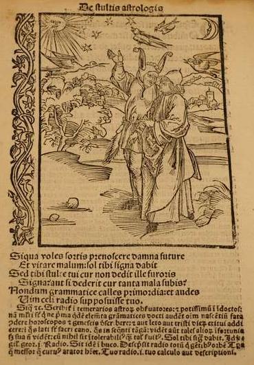 """Holzschnitt aus Sebastian Brants: """"Stultifera navis"""", Lateinische Übersetzung von Jacobus Locher Philimusus, Basel 1507"""