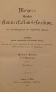 Meyers Großes Konversations-lexikon in 24 Bänden (Ausgabe von 1909, 1. Band)