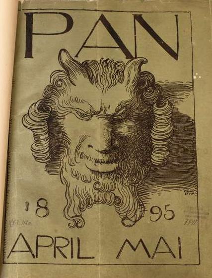 """Franz von Stuck, Titelblatt der Zeitschrift """"Pan"""". Berlin 1895"""
