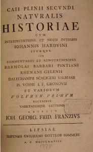 Titelseite des Plinus' Naturalis Historiae (Ausgabe von 1778)