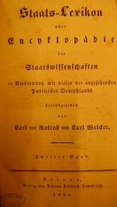 Carl von Rottecks Staats-Lexikon oder Enzyklopädie der Stattswissenschaft von 1935 ( Band 2)