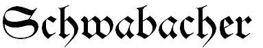 Schrift-Schwabacher
