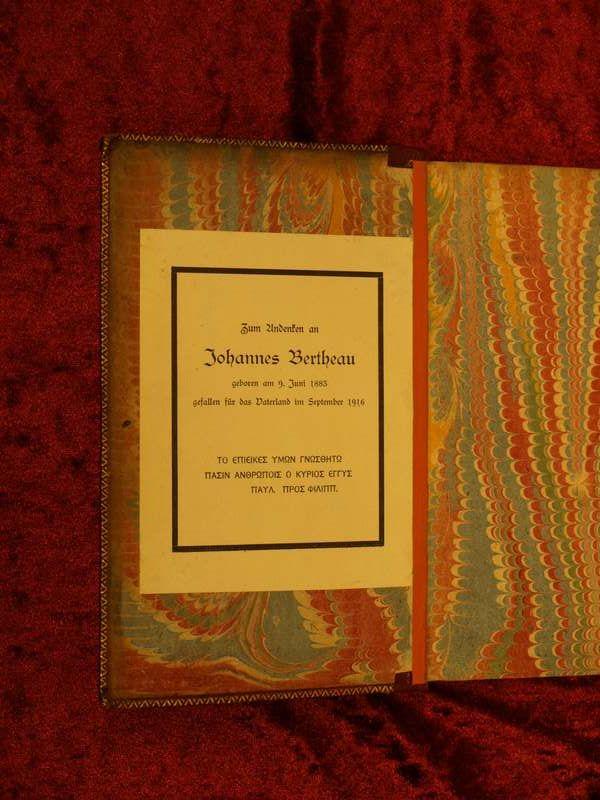 Johannes Bertheau war ab 1907 Lehrer am Johanneum. Er hinterließ der Johanneums-Bibliothek seine gesamte Provatbibliothek.