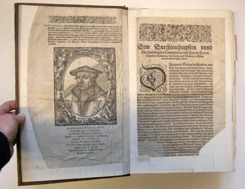 Illustrierte Seite in der Cosmographia (Signatur: XIII 33 s)