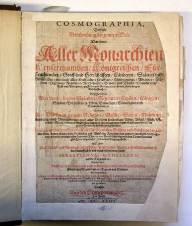 Titelblatt der Cosmographia (Signatur: XIII 33 s)