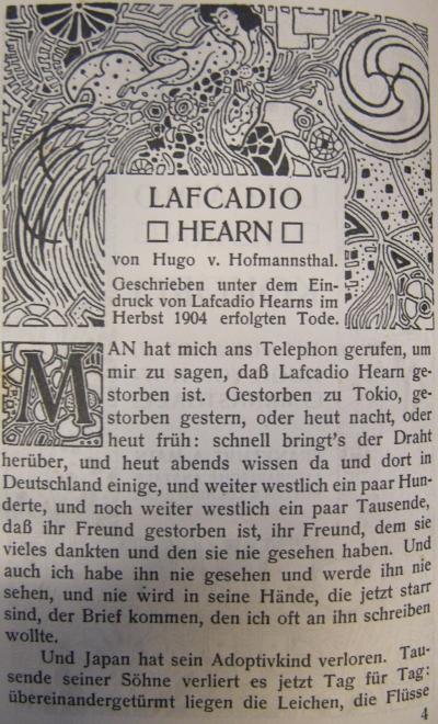 """Buchschmuck von Emil Orlik zu """"Kokoro"""" von Lafcadio Hearn, Frankfurt a. M.: Rütten & Loening, 1905"""