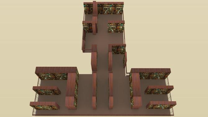 Modell Johanneum Obergeschoss 1