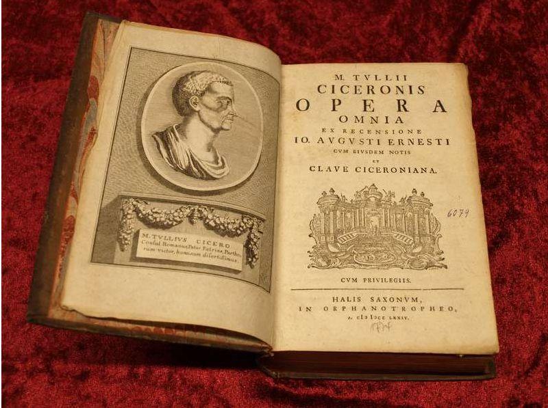 Eine Gesamtausgabe von Ciceros Werken aus dem Jahr 1774