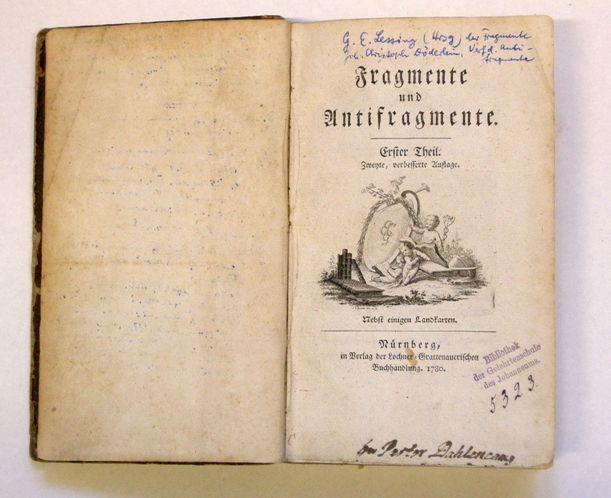 Fragmente und Antifragmente von J. C. Döderlin (1780)