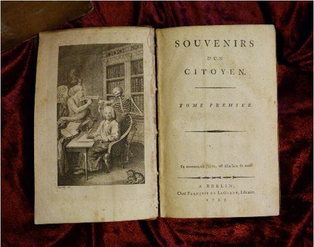 Souvenirs d'un citoyen, 2 Bd., Berlin 1789 (Sig. V 138s)