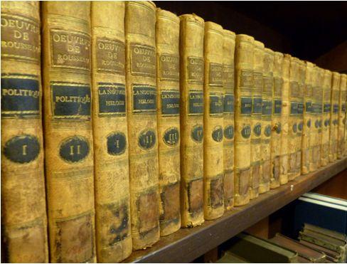 Collection complète des oeuvres de Jean-Jaques Rousseau 24 Bd., Geneve 1782,  (Sig. V 97)